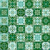 Gorgeous seamless pattern Moroccan, Portuguese tiles, Azulejo, ornaments. Can be used for wallpaper, pattern fills, web. Page background,surface textures Royalty Free Stock Image