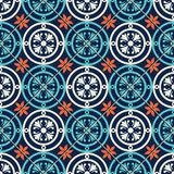 Gorgeous seamless pattern Moroccan, Portuguese tiles, Azulejo, ornaments. Can be used for wallpaper, pattern fills, web. Page background,surface textures Royalty Free Stock Images