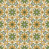 Gorgeous seamless pattern Moroccan, Portuguese tiles, Azulejo, ornaments. Can be used for wallpaper, pattern fills, web. Page background,surface textures Royalty Free Stock Photo