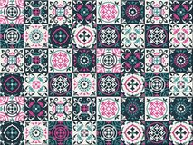 Gorgeous seamless pattern Moroccan, Portuguese tiles, Azulejo, ornaments. Can be used for wallpaper, pattern fills, web. Page background,surface textures Stock Photography