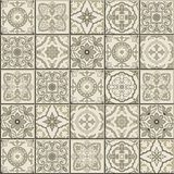 Gorgeous seamless  pattern . Moroccan, Portuguese  tiles, Azulejo, ornaments. Stock Photos
