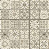 Gorgeous seamless  pattern . Moroccan, Portuguese  tiles, Azulejo, ornaments. Stock Photos