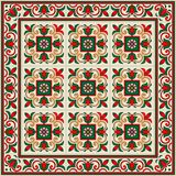 Gorgeous seamless pattern from tiles and border. Moroccan, Portuguese, Azulejo ornaments. Stock Photography