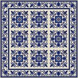 Gorgeous seamless pattern from tiles and border. Moroccan, Portuguese, Azulejo ornaments. Can be used for wallpaper, pattern fills, web page background,surface Stock Image