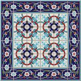 Gorgeous seamless  pattern from tiles and border. Moroccan, Portuguese,Turkish, Azulejo ornaments. Can be used for wallpaper, pattern fills, web page Stock Images