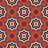 Gorgeous seamless pattern white colorful Moroccan, Portuguese tiles, Azulejo, ornaments. Can be used for wallpaper. Pattern fills, web page background,surface Royalty Free Stock Image