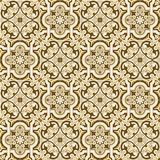 Gorgeous seamless pattern white sepia Moroccan, Portuguese tiles, Azulejo, ornaments. Can be used for wallpaper, pattern. Fills, web page background,surface Royalty Free Stock Images