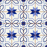 Gorgeous seamless  pattern  white Turkish, Moroccan, Portuguese  tiles, Azulejo, Arabic ornament. Islamic art. Royalty Free Stock Photos