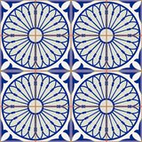 Gorgeous seamless pattern white Turkish, Moroccan, Portuguese tiles, Azulejo, Arabic ornament. Islamic art. stock illustration