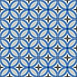 Gorgeous seamless  pattern  white Turkish, Moroccan, Portuguese  tiles, Azulejo, ornament. Royalty Free Stock Image