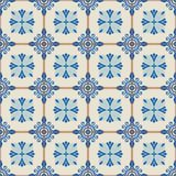 Gorgeous seamless  pattern  white Turkish, Moroccan, Portuguese  tiles, Azulejo, ornament. Royalty Free Stock Images