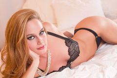 Gorgeous and sensual. Royalty Free Stock Images