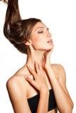 Gorgeous sensual slim  woman portrait Royalty Free Stock Photos