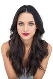 Gorgeous brunette posing stock photos