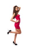 Gorgeous sexy lady in red dress, Royalty Free Stock Photo