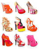 Gorgeous shoes collection Royalty Free Stock Photos