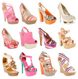 Gorgeous shoes collection Royalty Free Stock Photography