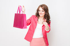 Gorgeous shopper. Royalty Free Stock Photography