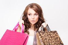 Gorgeous shopper. Royalty Free Stock Images