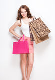 Gorgeous shopper. Stock Photos