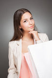 Gorgeous shopper. Royalty Free Stock Image