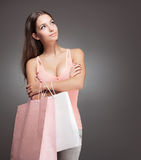 Gorgeous shopper. Stock Image