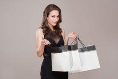 Gorgeous shopper. Royalty Free Stock Photos