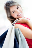 Gorgeous shopping girl Stock Images