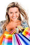 Gorgeous shopping woman Stock Photo