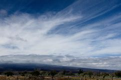 Gorgeous skies over new route 200, Big Island Royalty Free Stock Photography