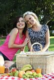Gorgeous Smiling Women  Friends at Picnic Stock Photo