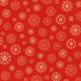 Gorgeous snowflakes background in golden and red Stock Photography