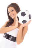 Gorgeous soccer girl Stock Photos