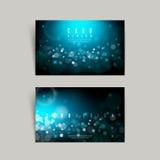 Gorgeous sparkling blue business card design Stock Image
