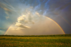 Gorgeous Stormy Rainbow Stock Images