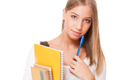 Gorgeous student girl. Royalty Free Stock Images