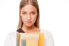 Gorgeous student girl. Royalty Free Stock Photos
