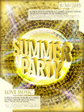 Gorgeous summer party poster design Stock Photos