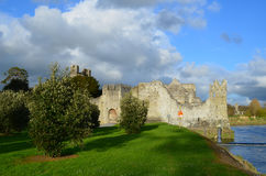 Gorgeous Sun Shining on the Ruins of Desmond Castle Royalty Free Stock Images