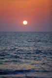 Gorgeous sundown over the Indian Ocean by the coastal city Marawila on the tropical island Sri Lanka Stock Photography