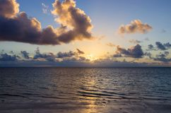 Gorgeous sunrise over the ocean. Dawn over the Indian Ocean Royalty Free Stock Photos