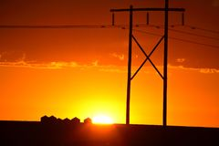 Gorgeous sunset Stock Photo