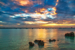 Gorgeous sunset on the Indian Ocean Royalty Free Stock Photos