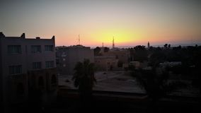 Gorgeous sunset in Morocco royalty free stock photography