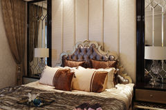 Gorgeous and sweet bedroom for gay and lesbian families Royalty Free Stock Photos