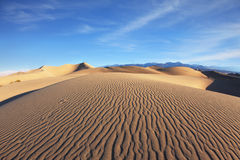 The symmetrical sand dune in Death Valley Stock Images