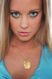 Gorgeous teen girl close up Stock Photos