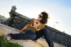 Gorgeous teen girl posing with attitude Royalty Free Stock Photos