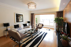 Gorgeous tidy living room. Indoor Environment, Home Furnishing Stock Photography