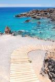 Gorgeous turquoise rocky bay in Playa de San Juan on Tenerife Royalty Free Stock Photos